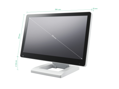 12 inch touchscreen (white)